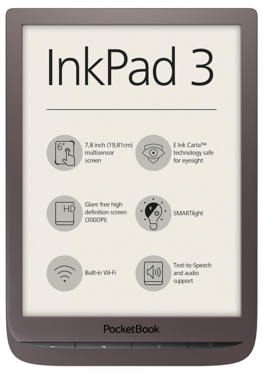 Czytnik e-booków PocketBook InkPad 3 7,8'' brown