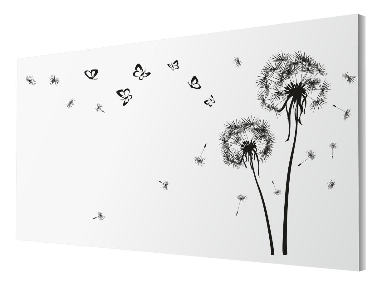 Nástenné nálepky púpava 260x160cm motýle