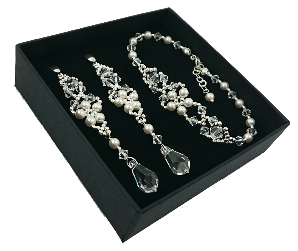 Item Bridal jewelry with crystals and pearls SWAROVSKI 1864