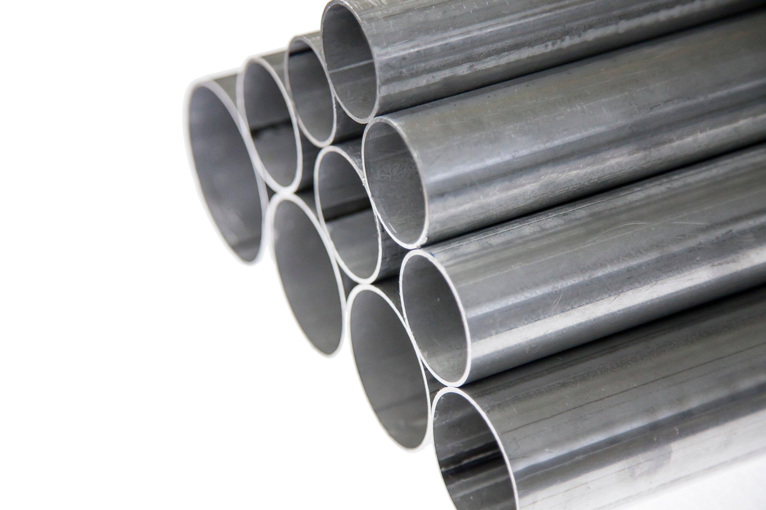 Труба алюминиевая, прямая, вырезанная, диаметр 50 мм