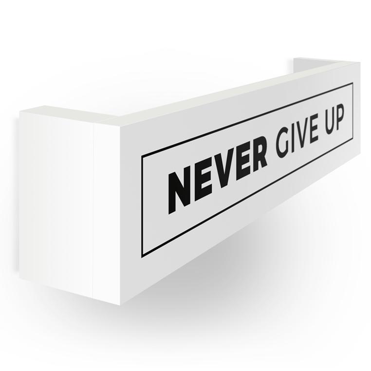 Wieszak на medale | Medalówka | Never give up