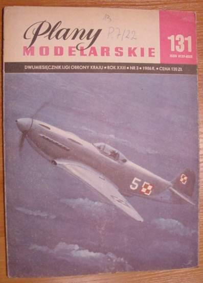PM nr 131 Model na uwięzi samolotu myśliw. JAK-3
