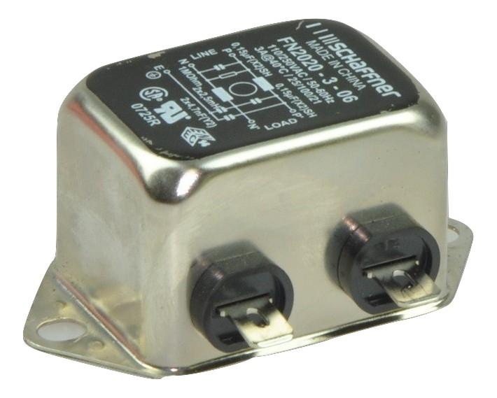 Jednofázový sieťový filter SHAFFNER FN2020-3-06