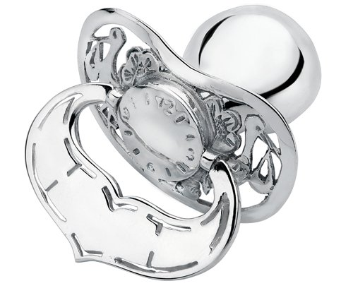Item Silver pacifier on Epiphany 925 engraver + dedication