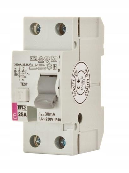 Różnicówka różnicowoprądowy ETI P302 25A 30mA 2P