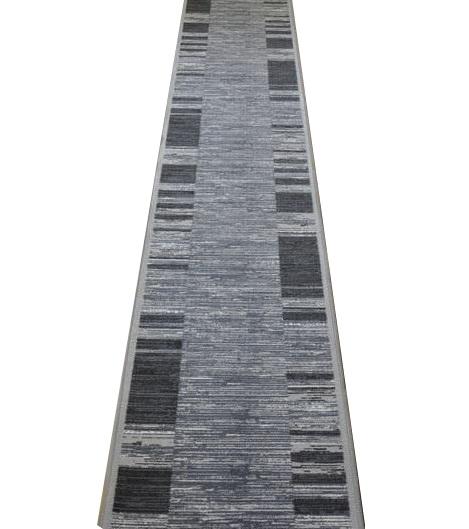 Koberec CHODNÍKU LEPENÉ GÉL ADAGIO 133cm, šírka, ŠEDÁ