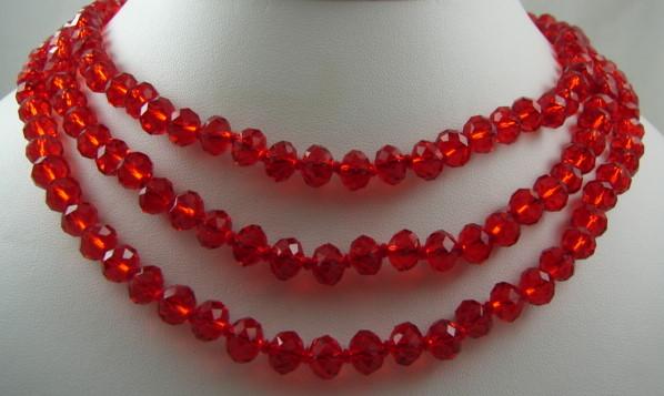 Triple náhrdelník, red crystal SUPEŁKOWANY