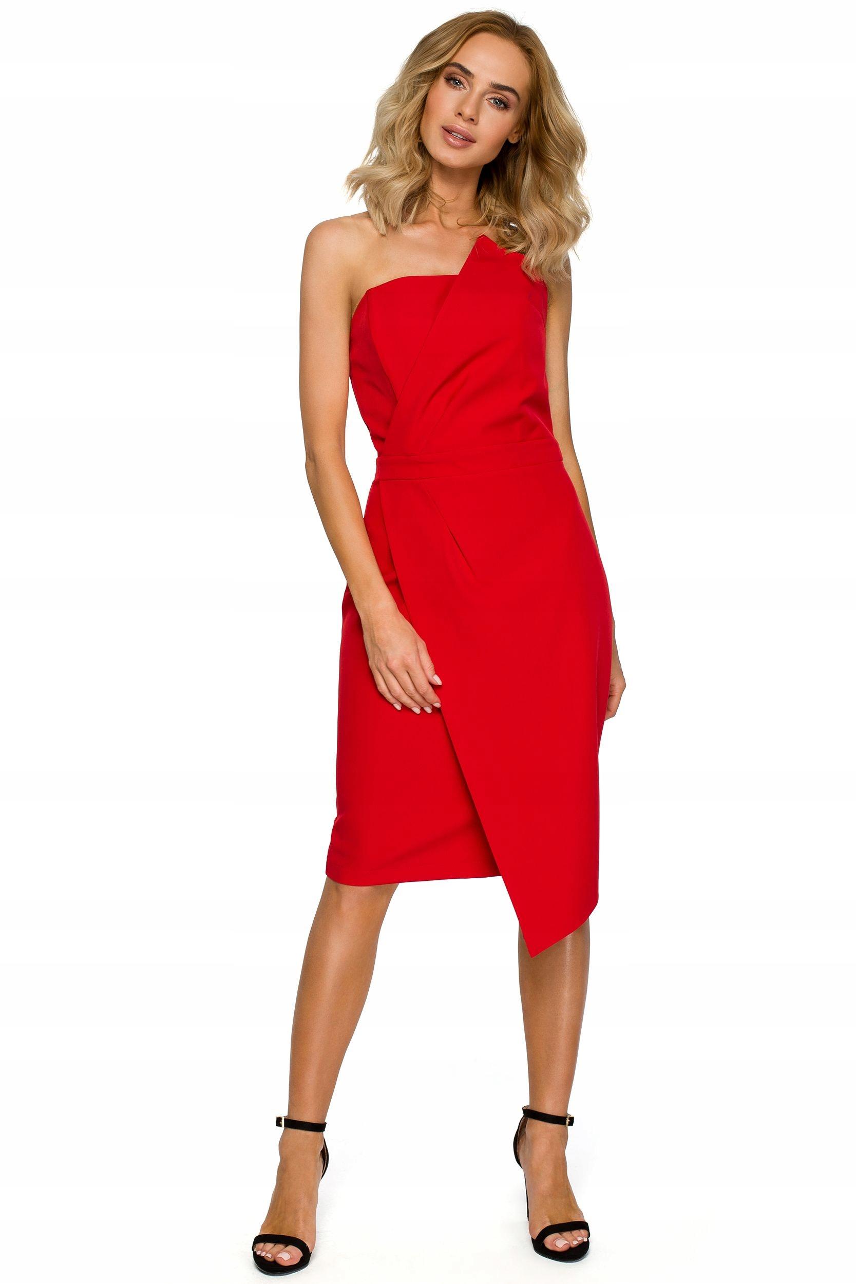 M409 Sukienka gorsetowa - czerwona 42 | XL