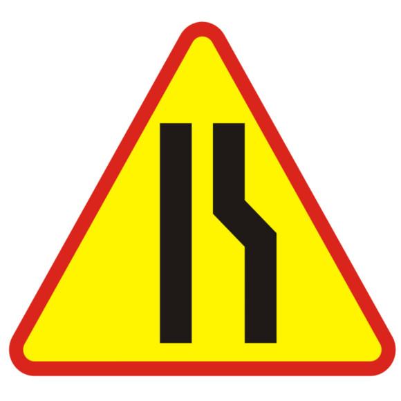 A12B Sign Zúženie pravej cesty 750mm typu I