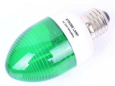 Disco Effect Bliká Strobo E27 Zelená žiarovka