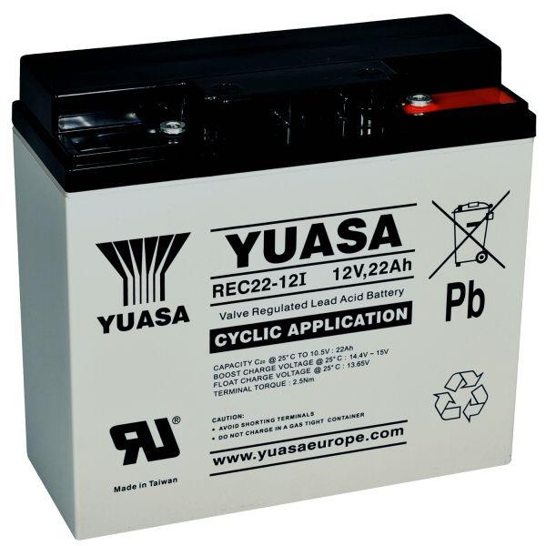 Batéria YUASA 12V 22Ah hlbokému vybitiu