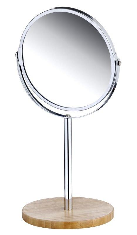 Kozmetické zrkadlo 2-stranné POW X2 Bambusové