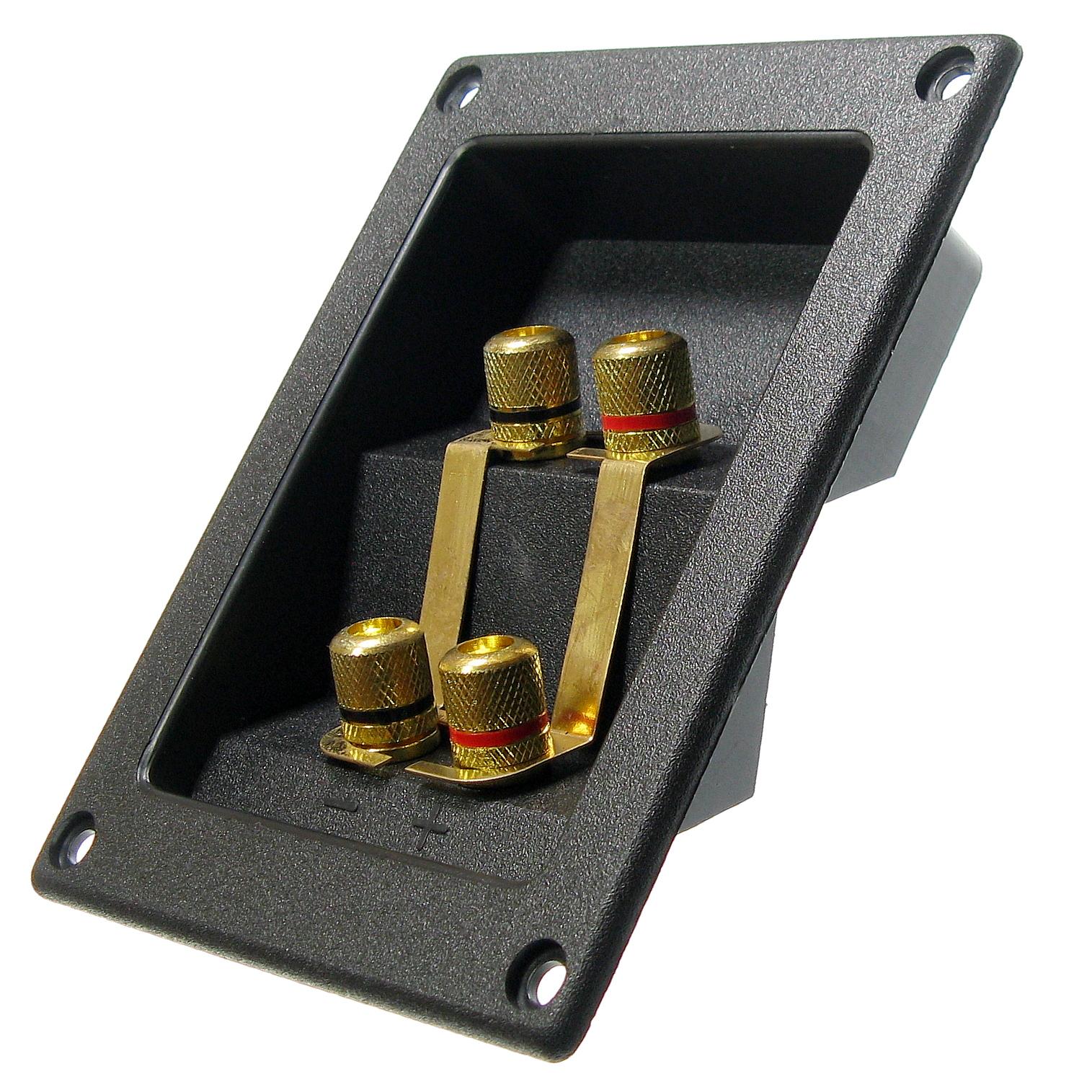 Terminál pre stĺpce 4x Banana Socket122x94mm