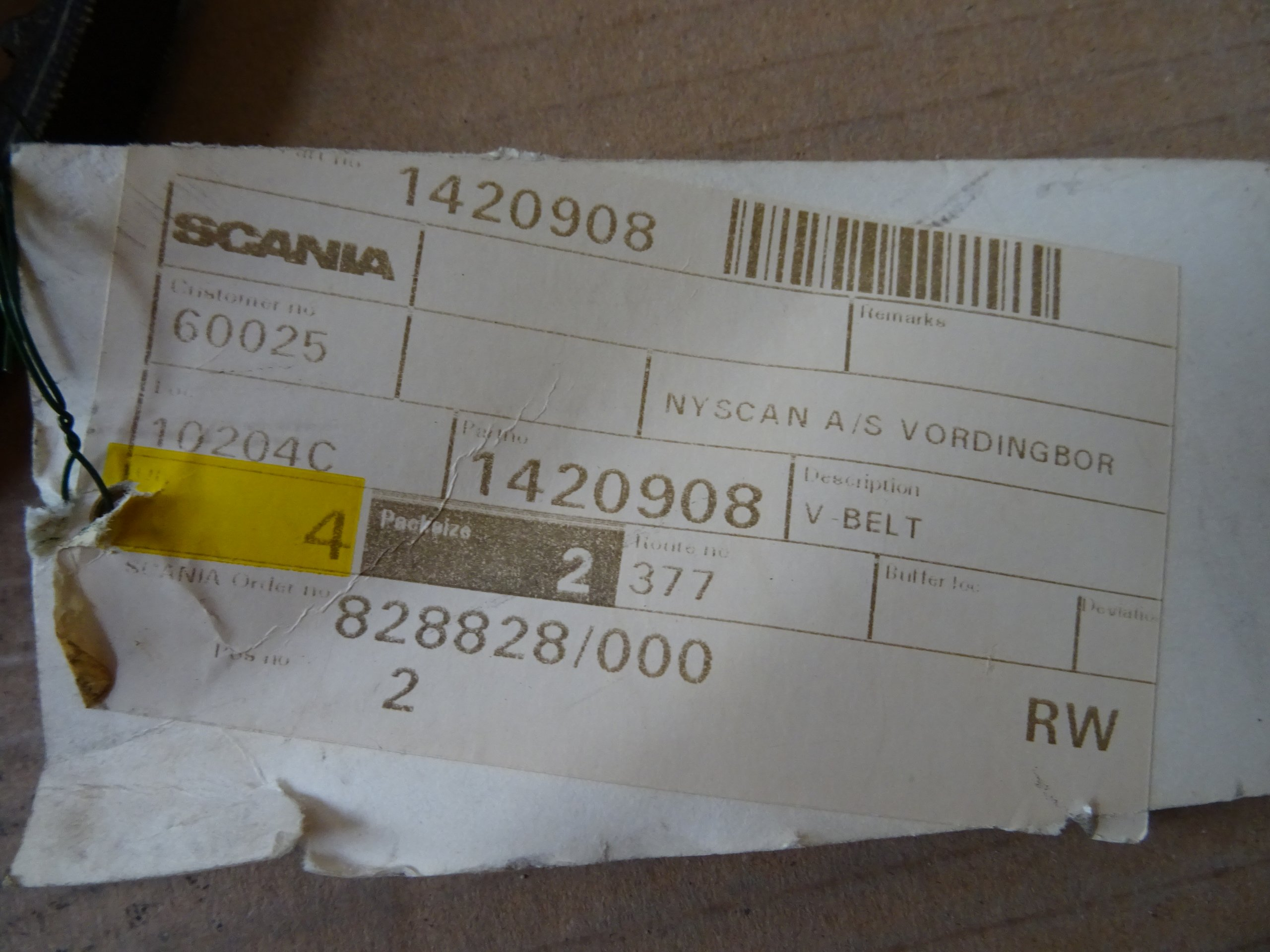 DIRZAS PLEISTISKAS SCANIA 13PK1900 1354390