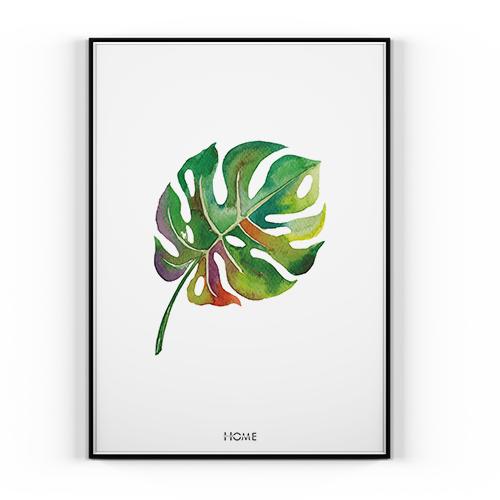 Plakat Liść 30x40cm Wnętrze Palma Leaf