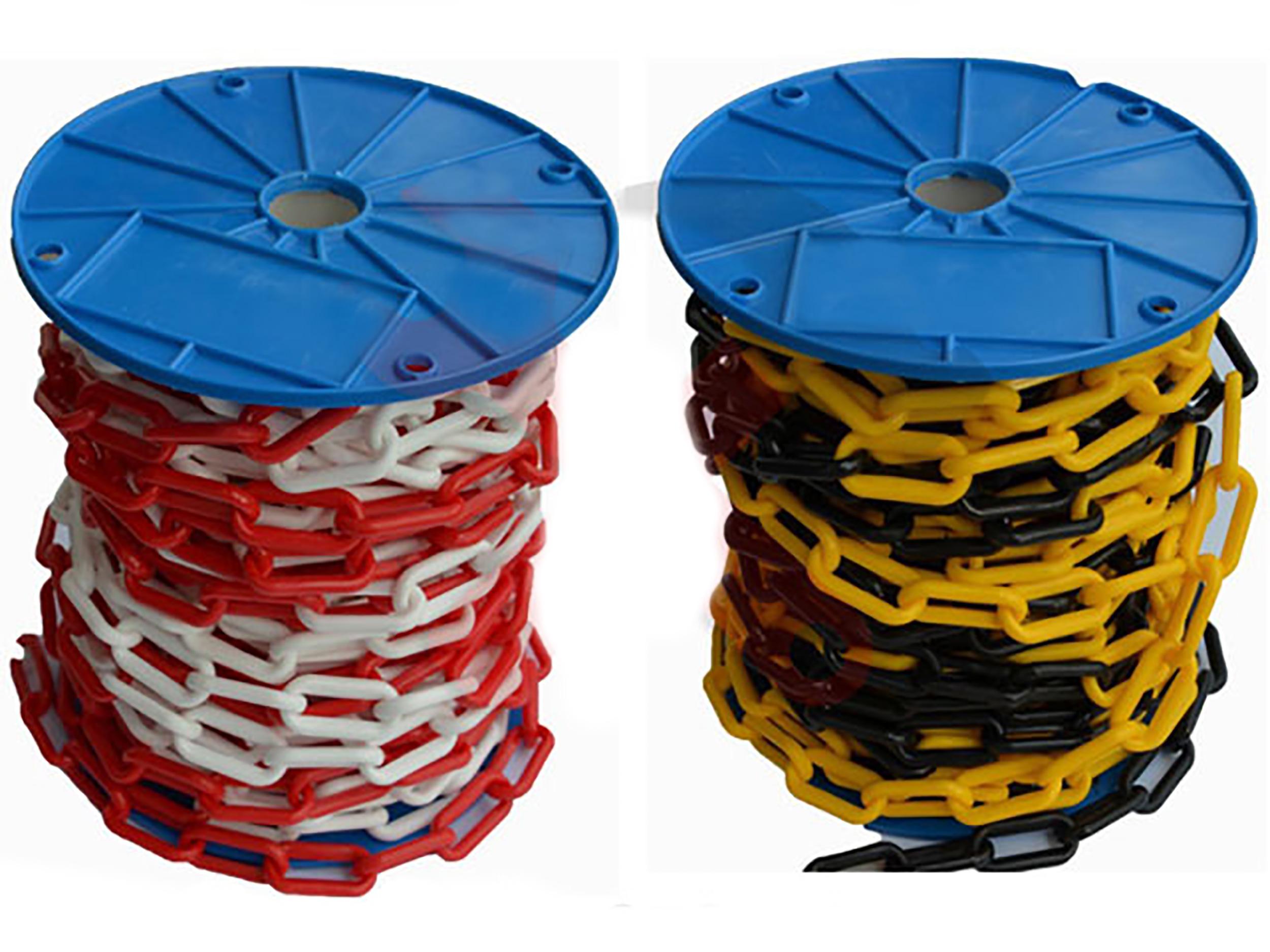 ŁAŃCUCH PLASTIKOWY OSTRZEGAWCZY 6 mm NA METRY PROM