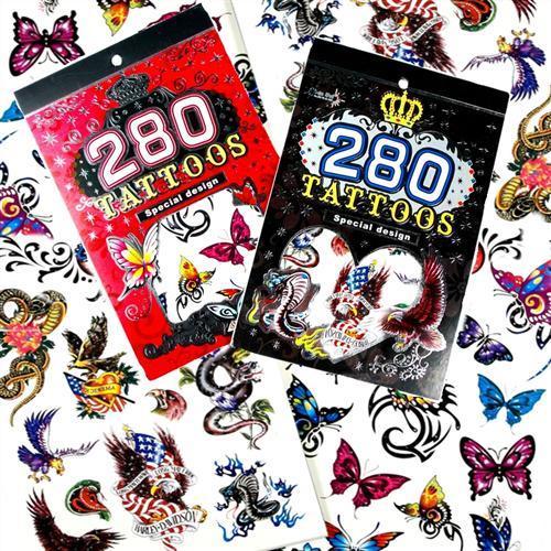 Sada dočasného tetovania tetovania 280
