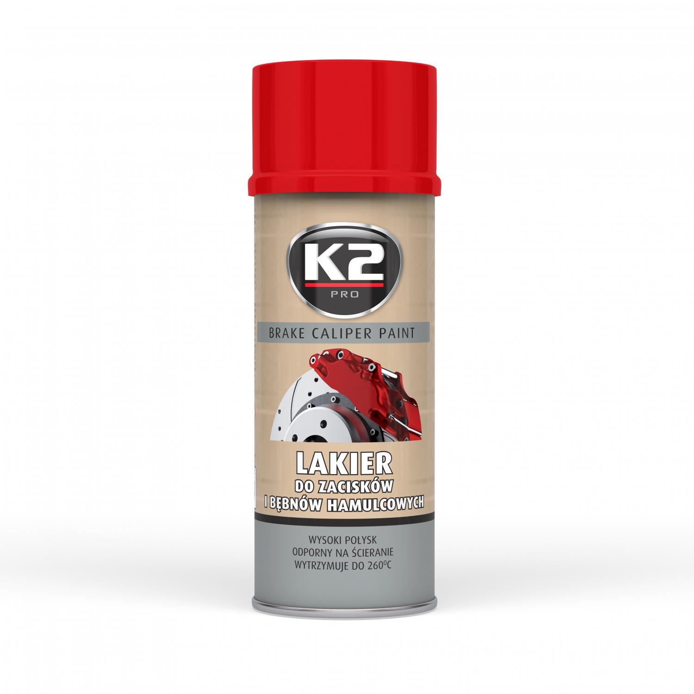 K2 Краска Лак для зажимов тормозных барабанов RED