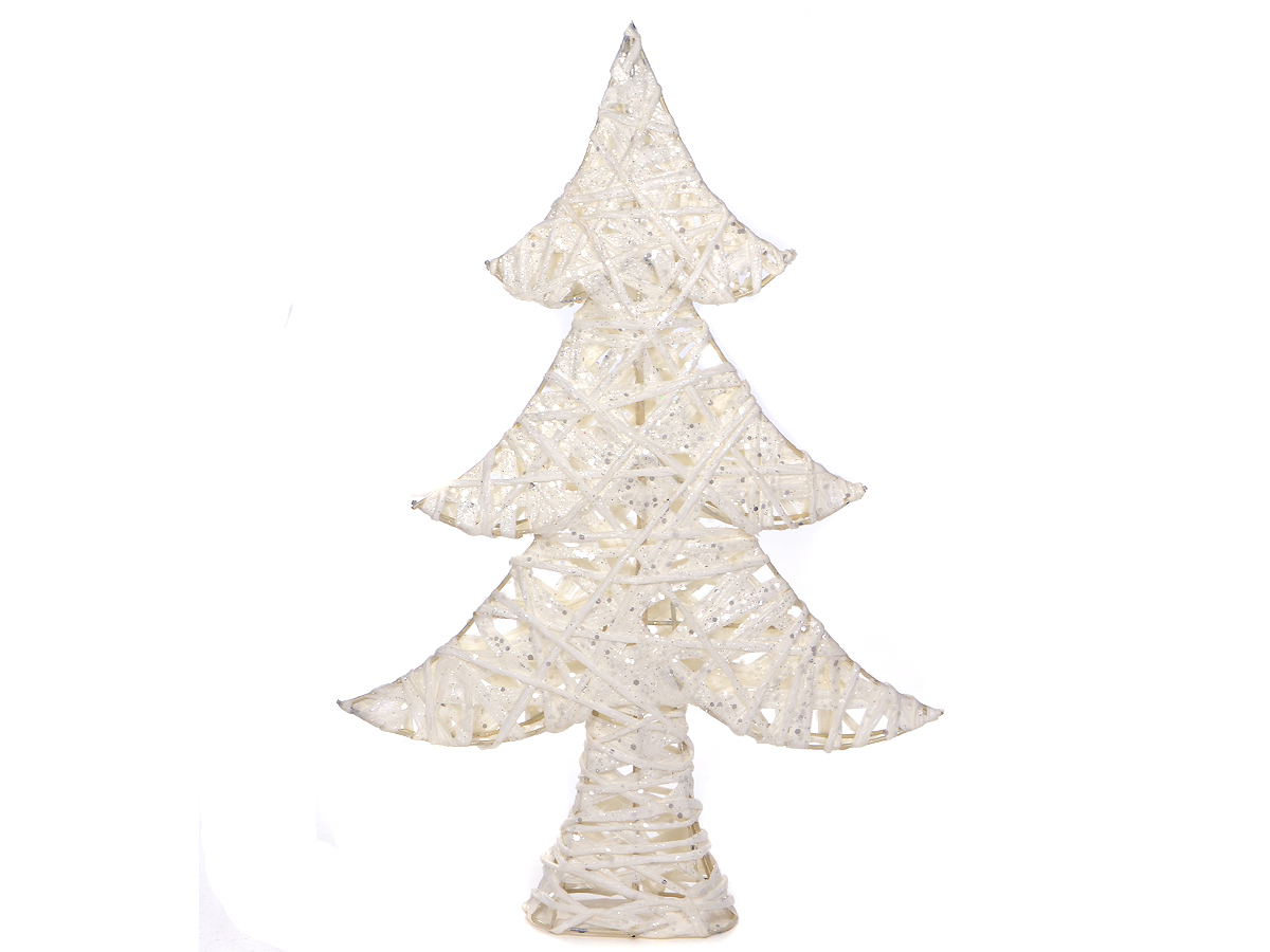 Vianočný stromček White Holiday Decoration Bubles Brocade 40cm
