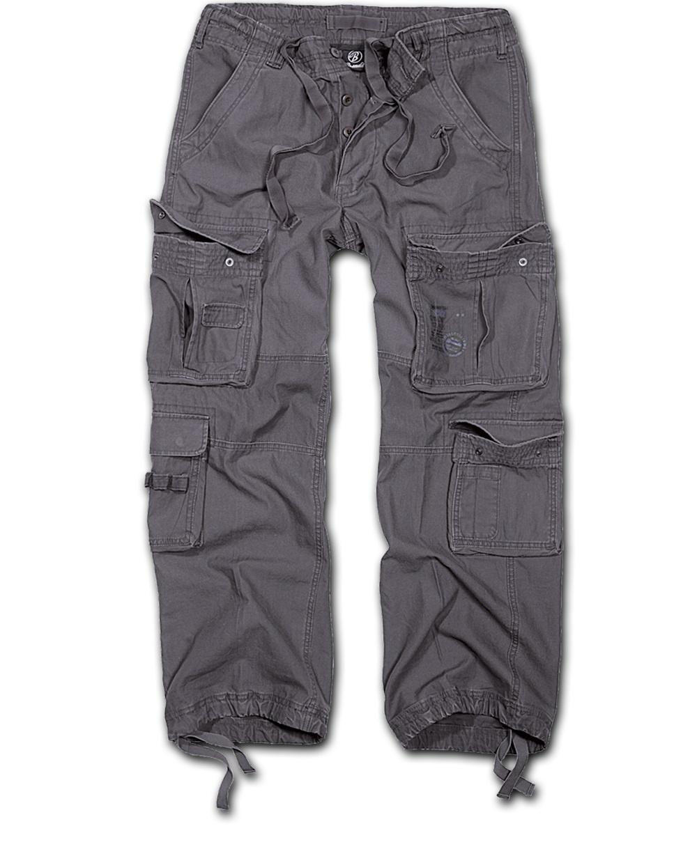 Nohavice BRANDIT Čistý Vintage antracit M
