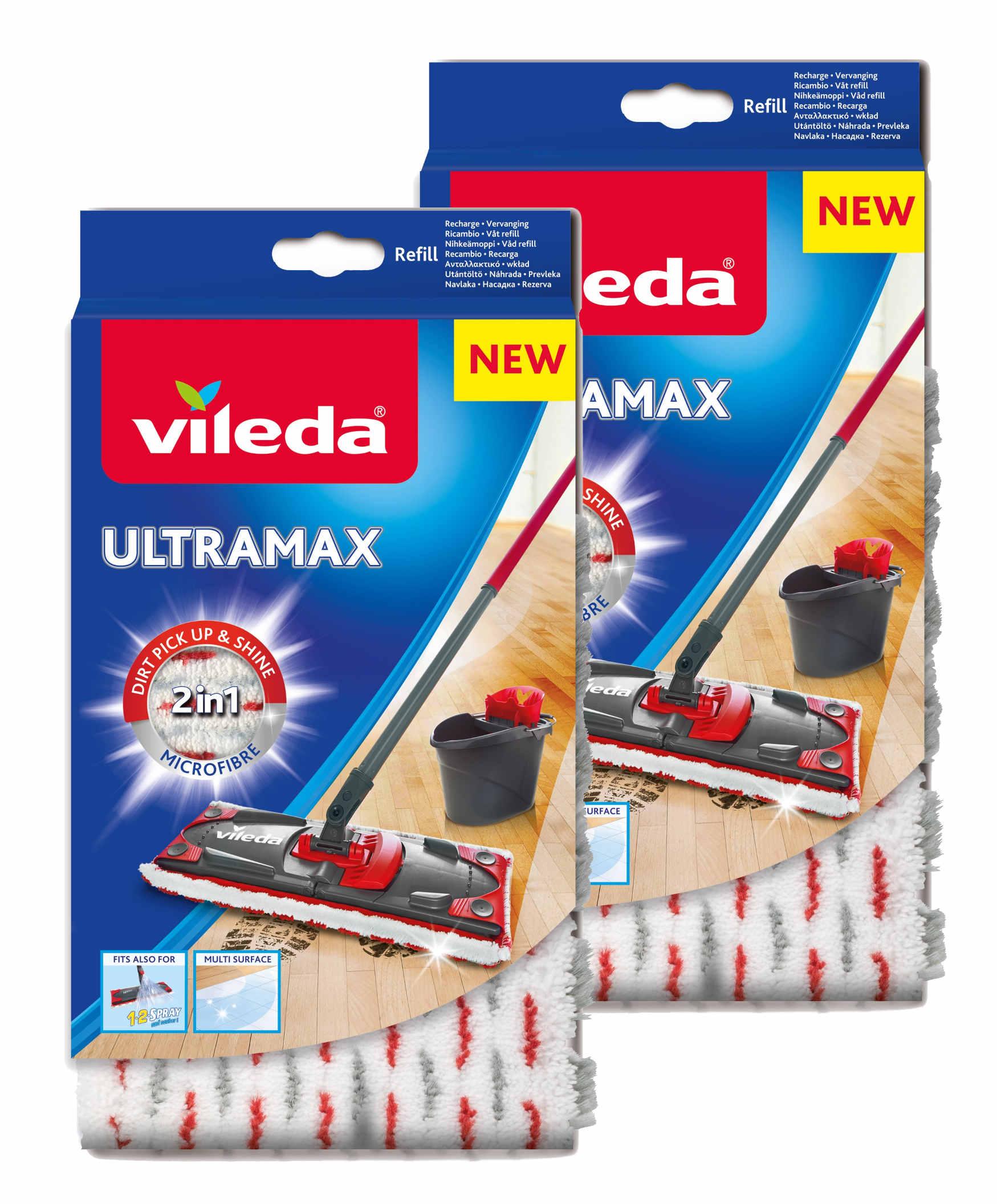 Вклад Швабры Vileda Ultramax Ultramat 1-2 Спрей 2шт