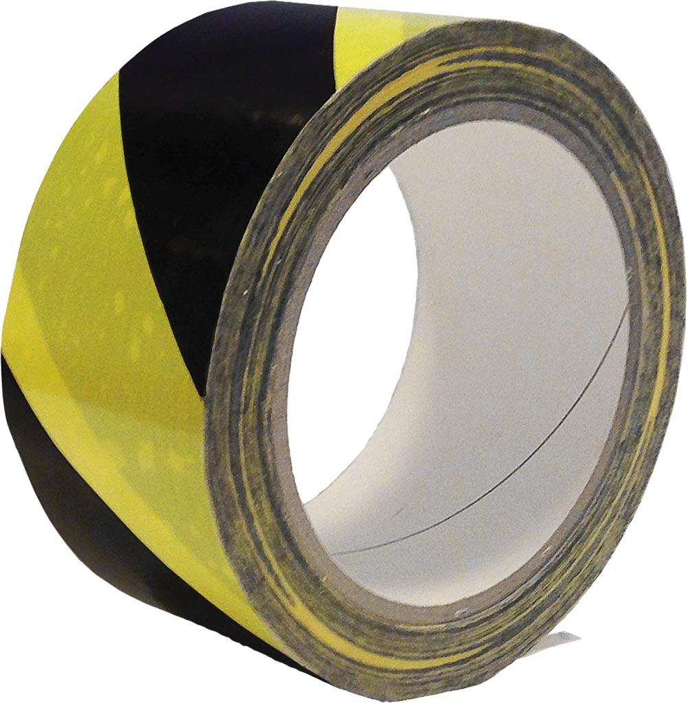 Taśma ostrzegawcza samoprzylepna żółto-czarna SP33