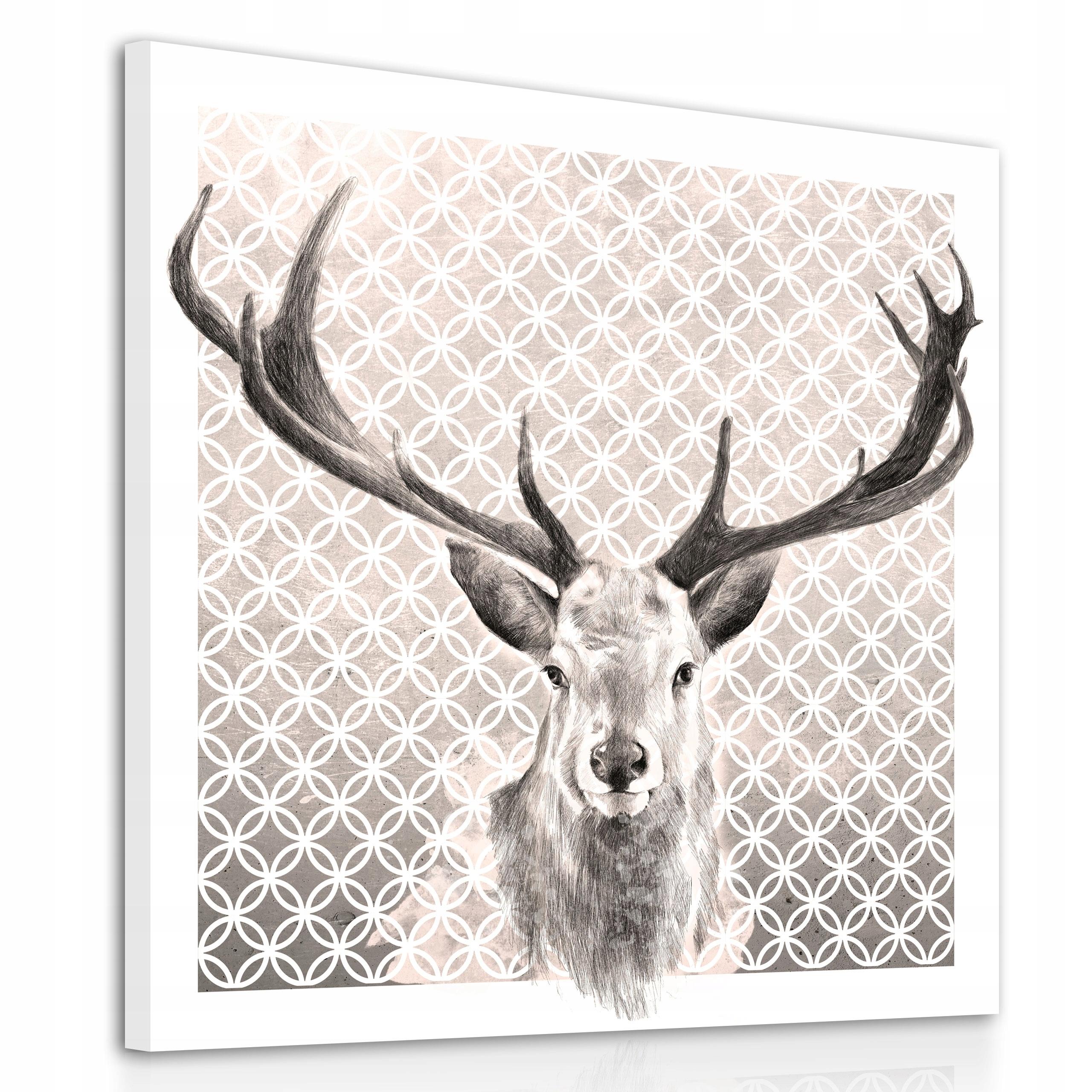 02121 plátno umenie JELEŇ VINTAGE 80x80cm