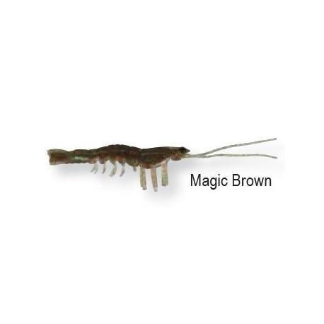 3d manické krevety 5cm magické hnedé