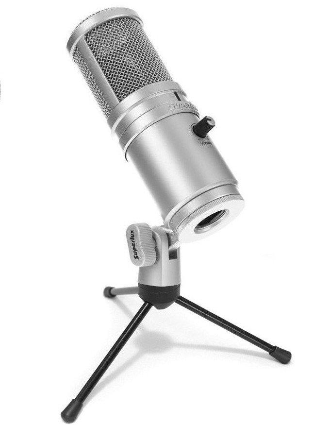 Kondenzátorový mikrofón Superlux E205U USB