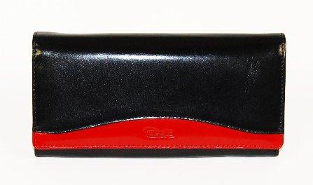 5ff4e8d890f61 Portfel damski skórzany CRESTI 25 czarno-czerwony 7308416219 - Allegro.pl