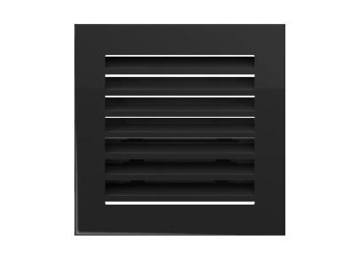 # КАМИН РЕШЕТКА вентиляция FRESH 17x17 черный
