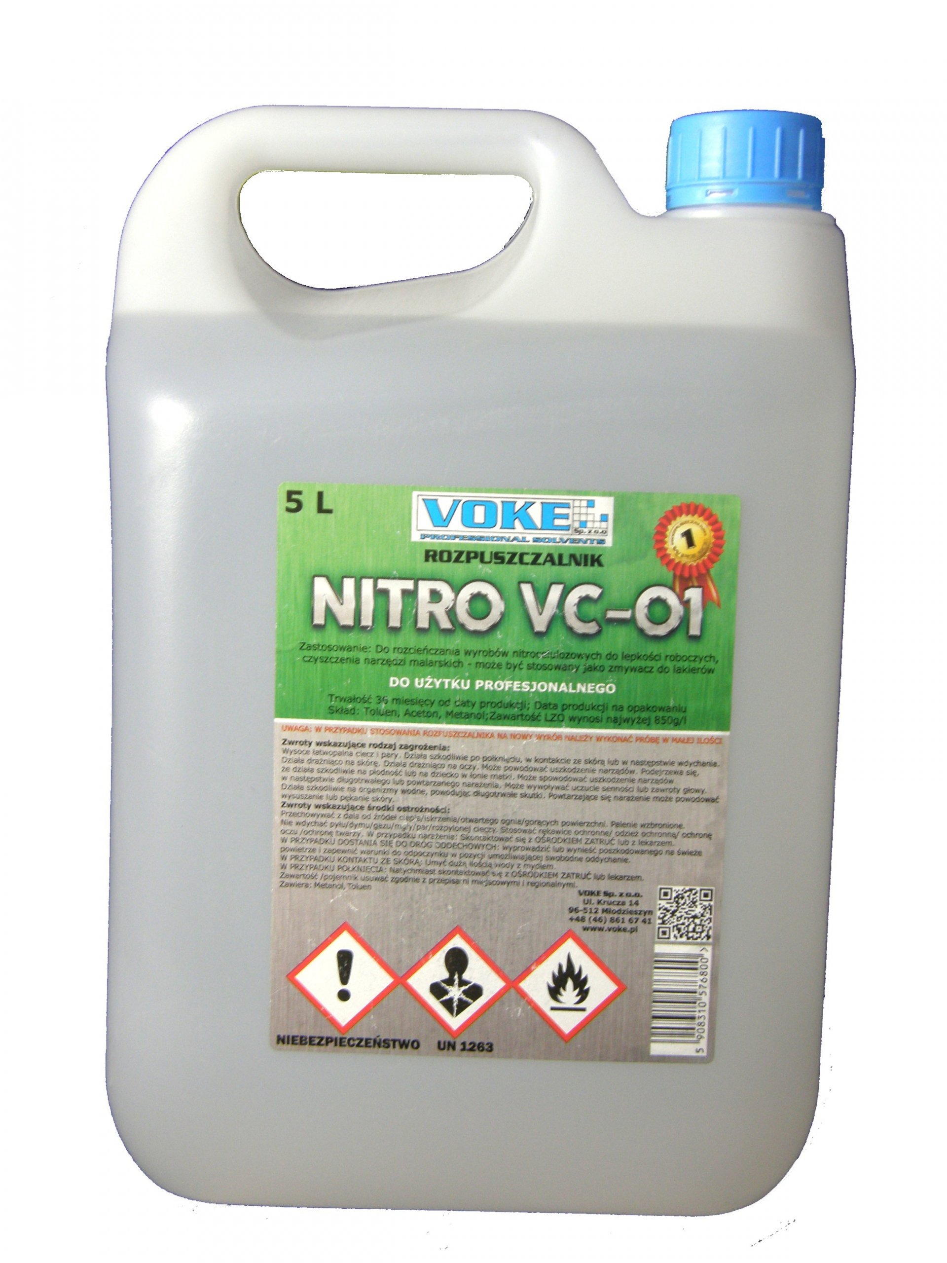 Растворитель Нитро 5Л VC-01 VOKE