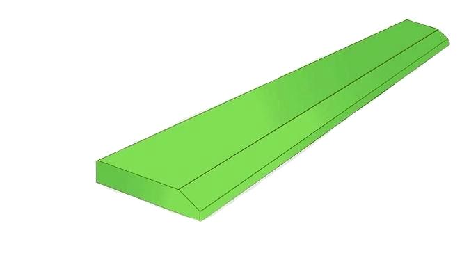 LEMIESZ nóż krawędź łyżki 150mm x 20 mm 500HB