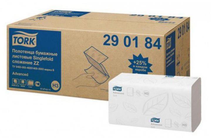 TORK 290184 Z-Z biely uterák II vrstva a-4000