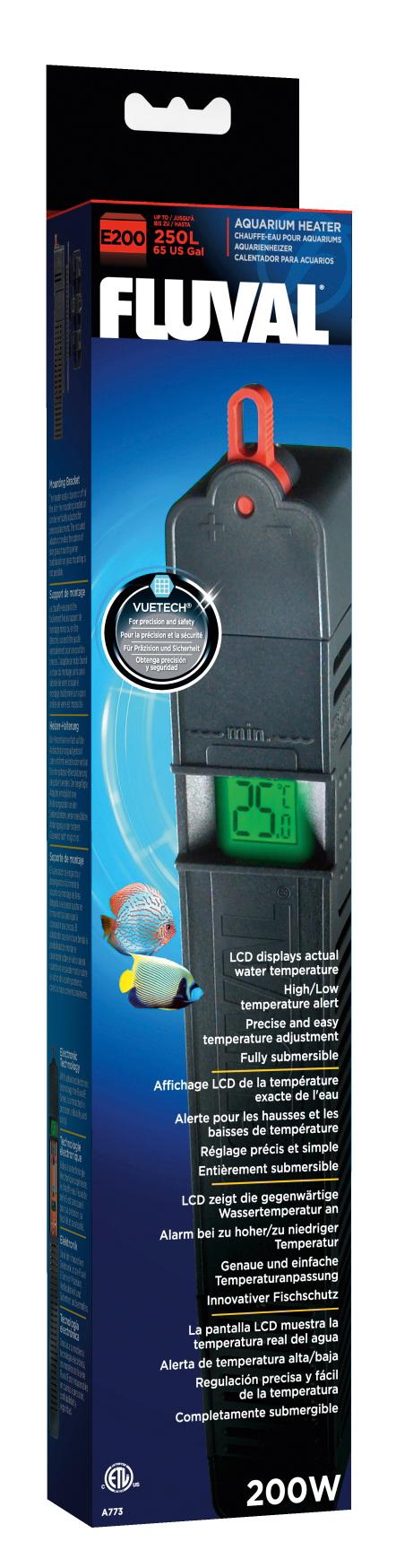 HAGEN Fluval E200 Ohrievač s LCD displej
