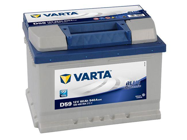 аккумулятор varta blue 60 ах 540 a p+