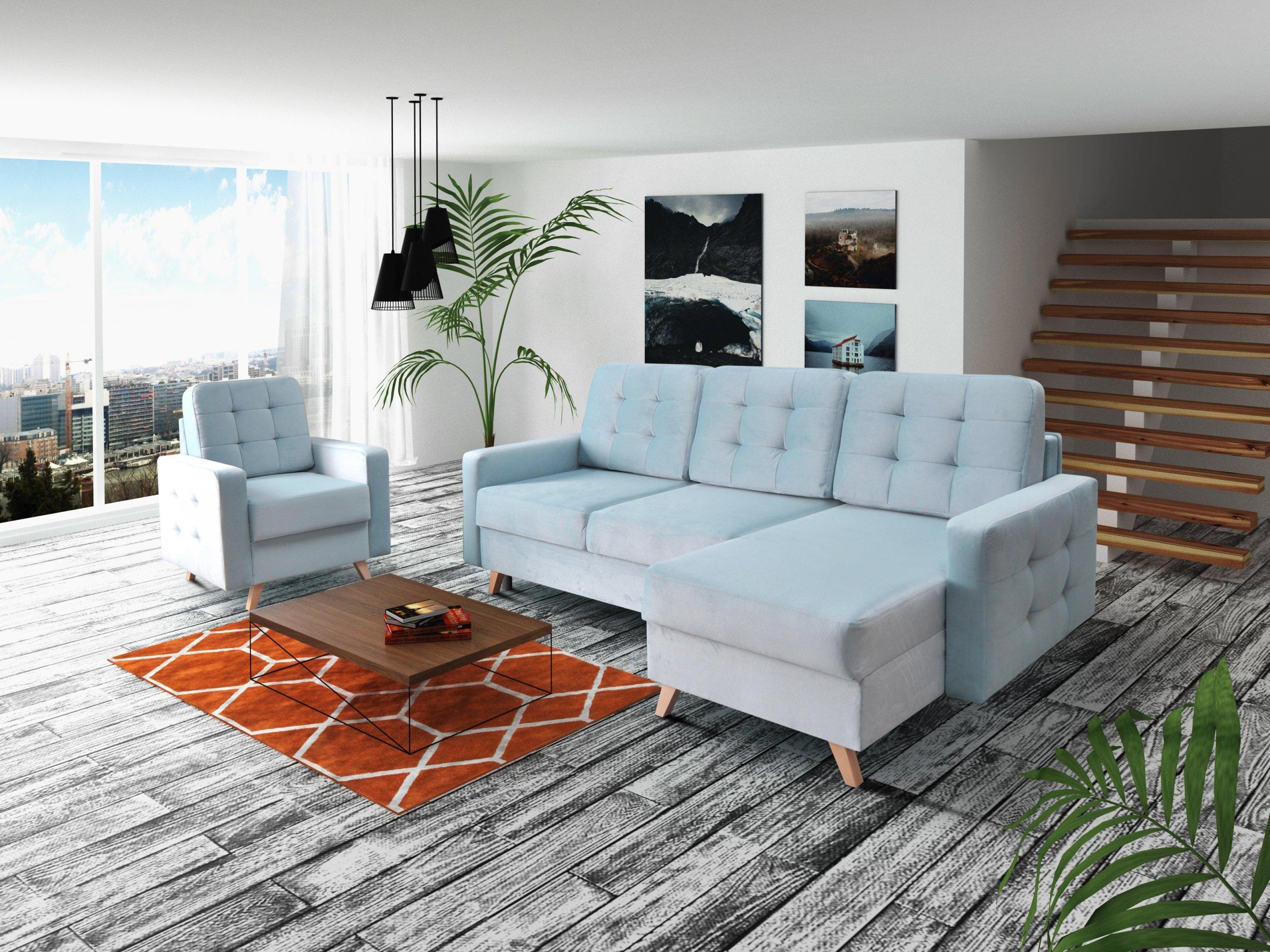 Skandinavische Zimmerecke VEGAS / Farben! R / L Die Breite der Möbel 236 cm