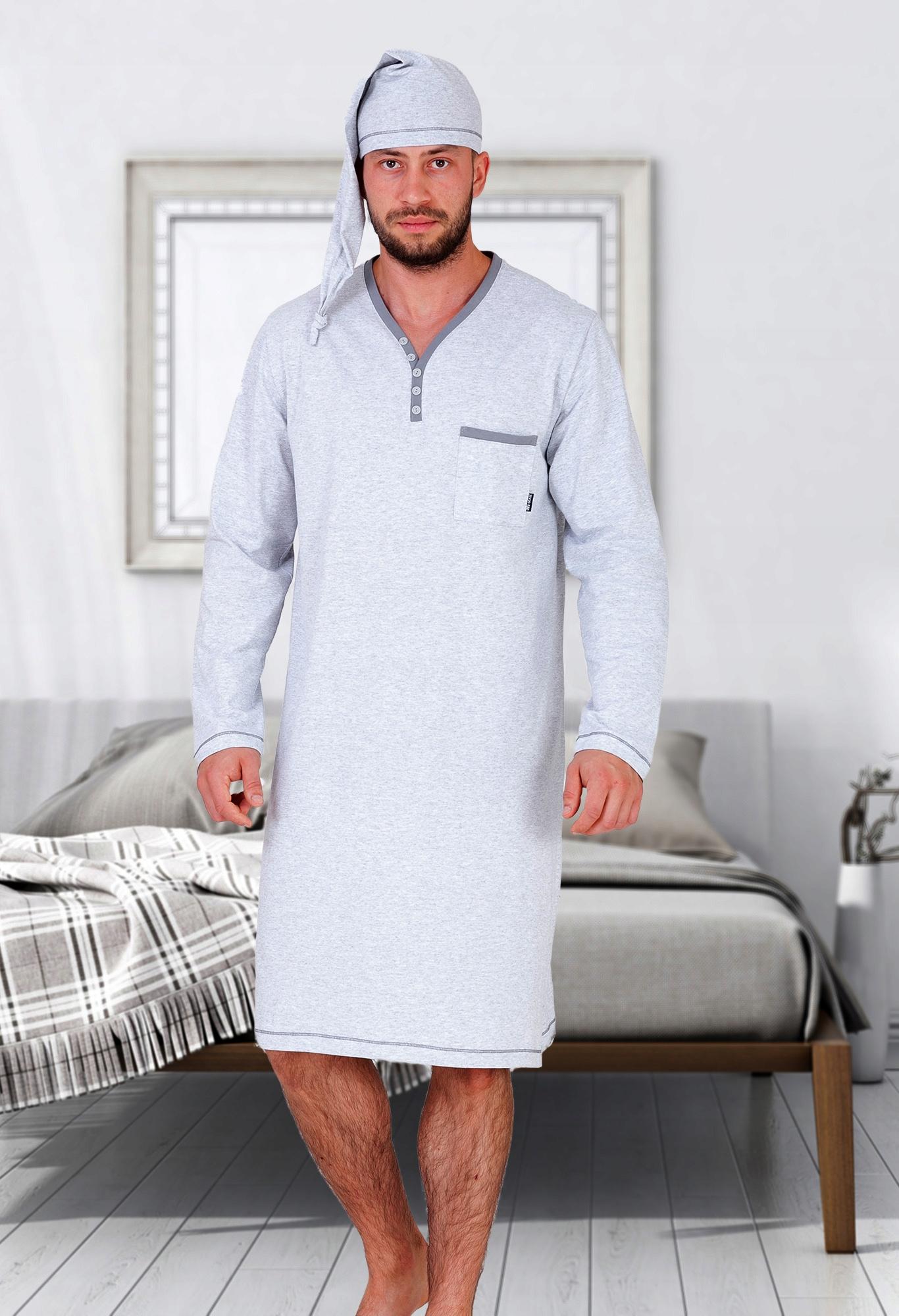 Koszula nocna męska szlafmyca Bonifacy M MAX L 6991606349  nV6zs