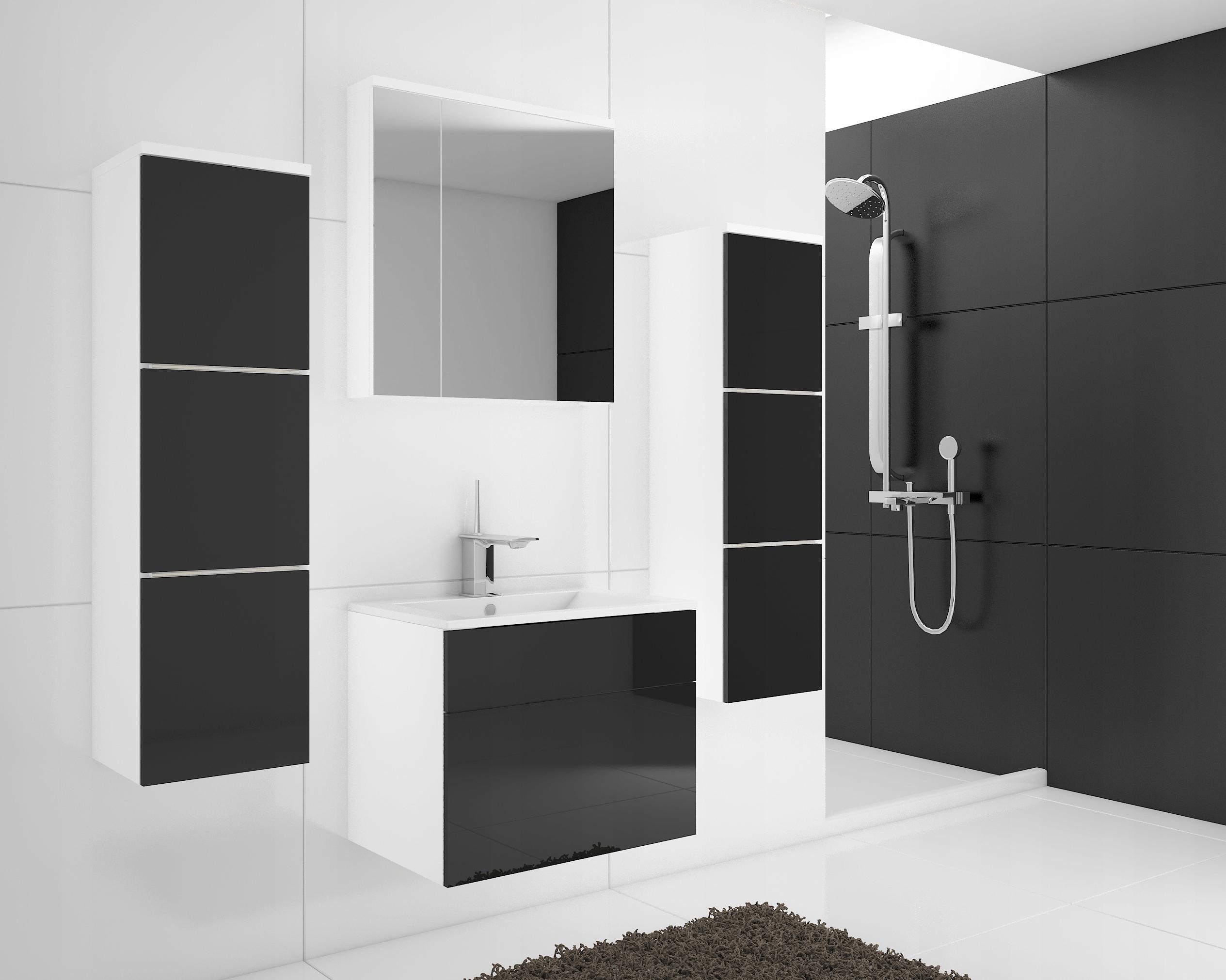 Nábytok pre kúpeľňa TORRO lesklý MDF, zrkadlo, skriňa
