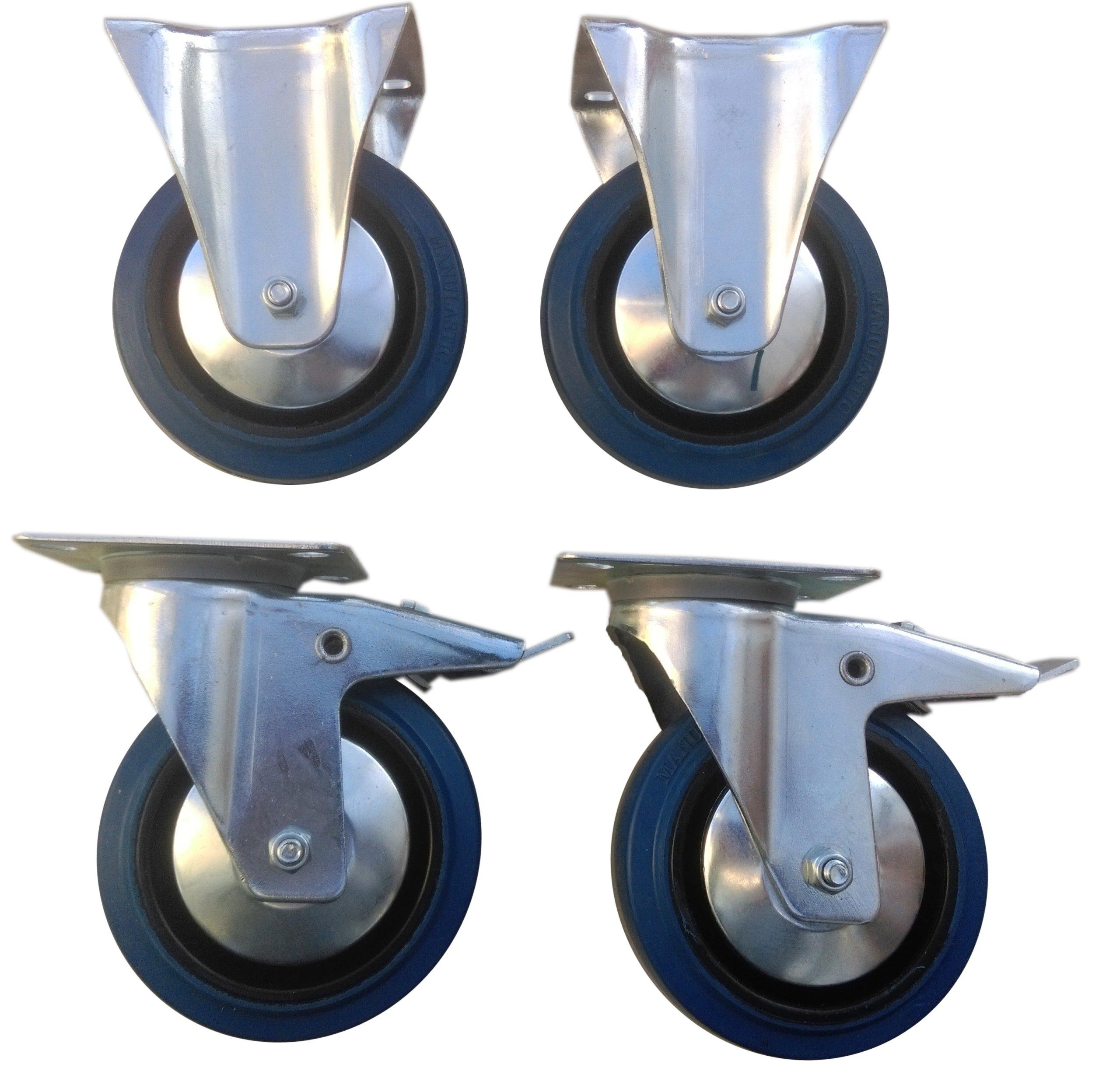 Комплект колес fi 125 мм 4 шт. плитка, 500 КГ КОЛЕСА