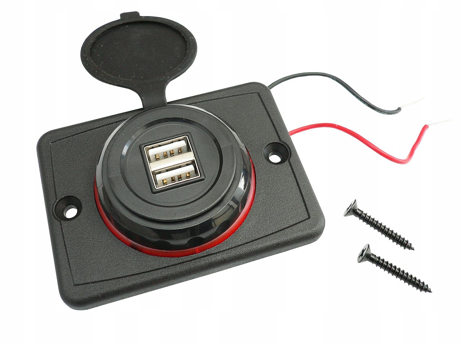 Зарядное устройство 2 x usb 3 1a гнездо автомобильные 12v 24v