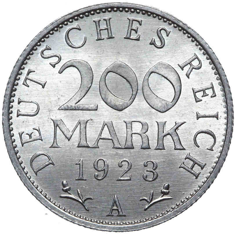 Nemecko - 200 značiek 1923 A - Cinema s rolkom