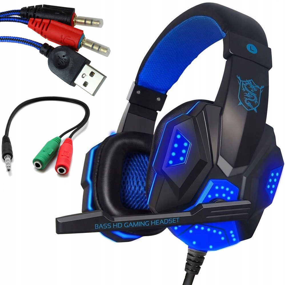 Item HEADPHONES WITH MICROPHONE BACKLIT G1000