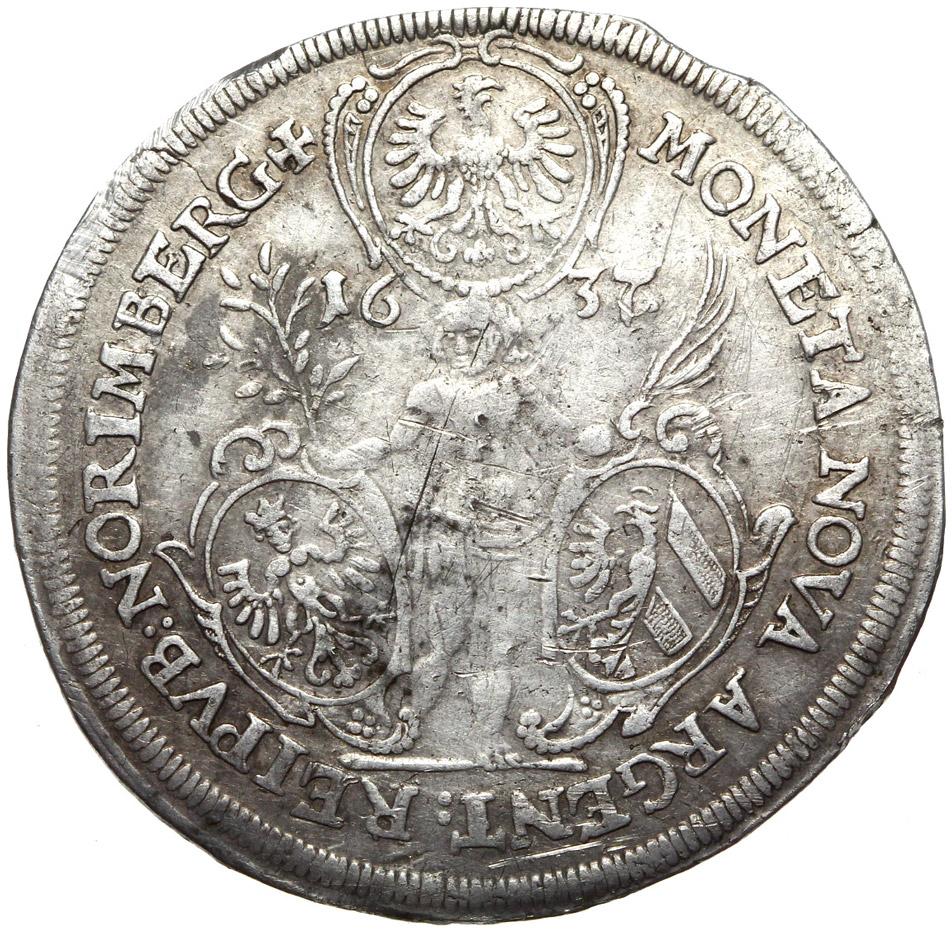 + Norimberg - Talar 1637 - Ferdynand III - SILVER