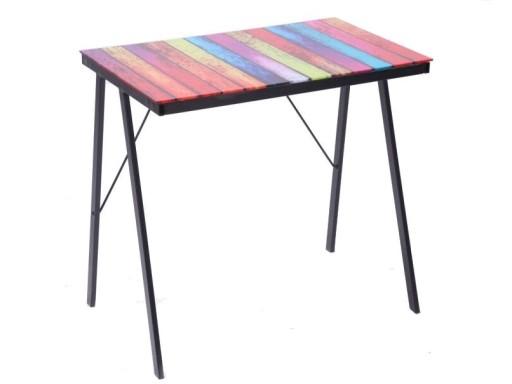 Black moderný stolík so sklom hore/CN-06