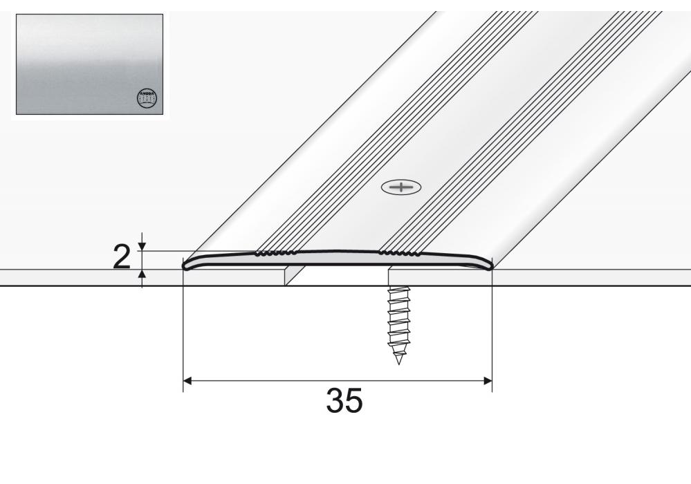 A08 Pripojovací pás pre 120 cm striebro