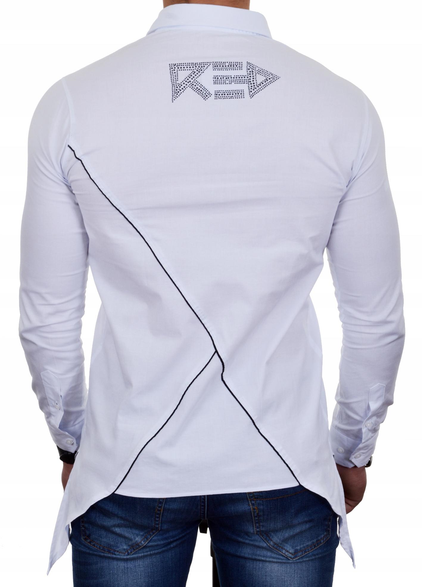 Koszula Męska Asymetryczna Casual Przedłużana NEW 7671090421