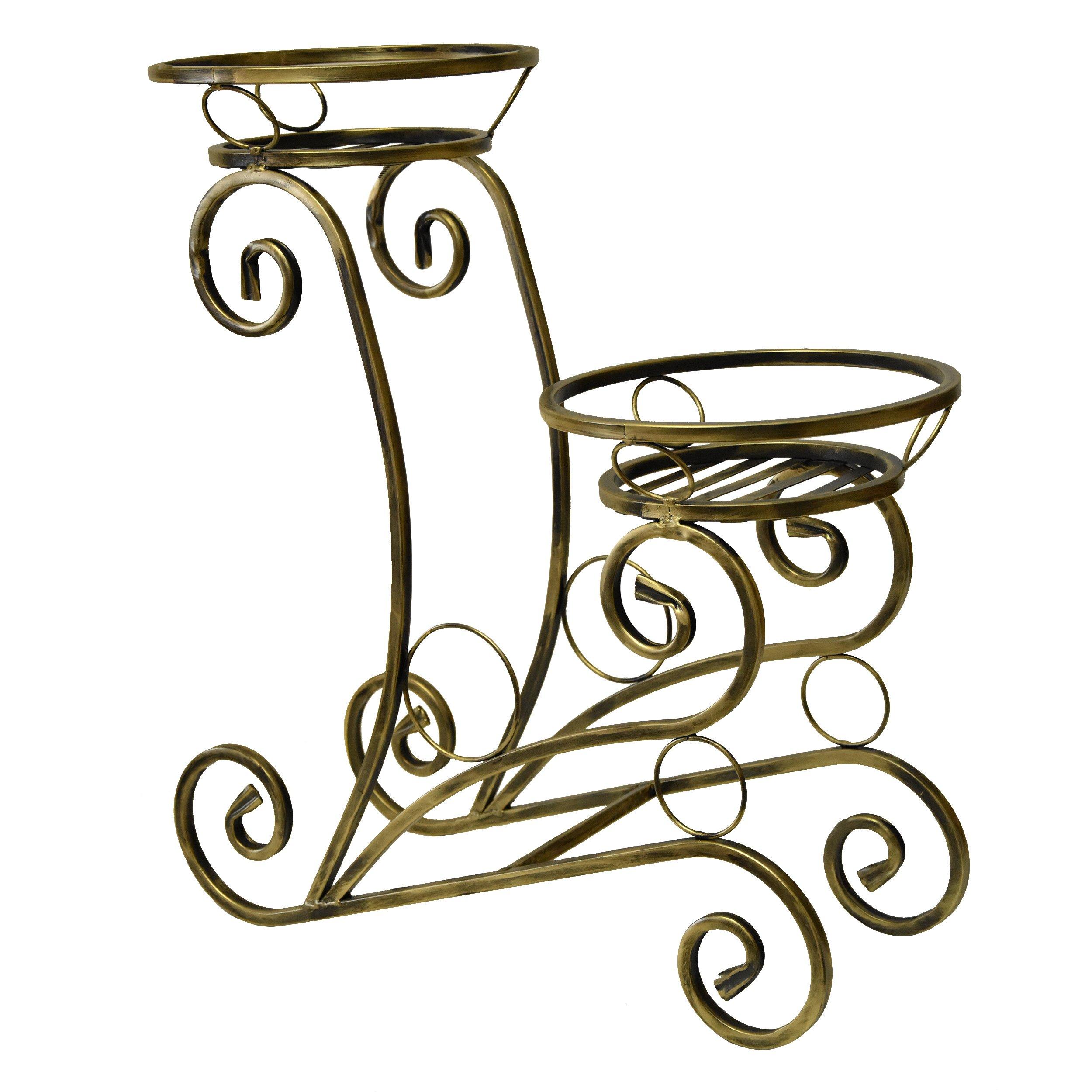 Kwietnik metalowy stojak na kwiaty metaloplastyka