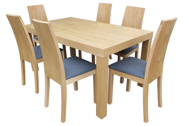 Элегантный раздвижной стол из дуба + 6 стульев