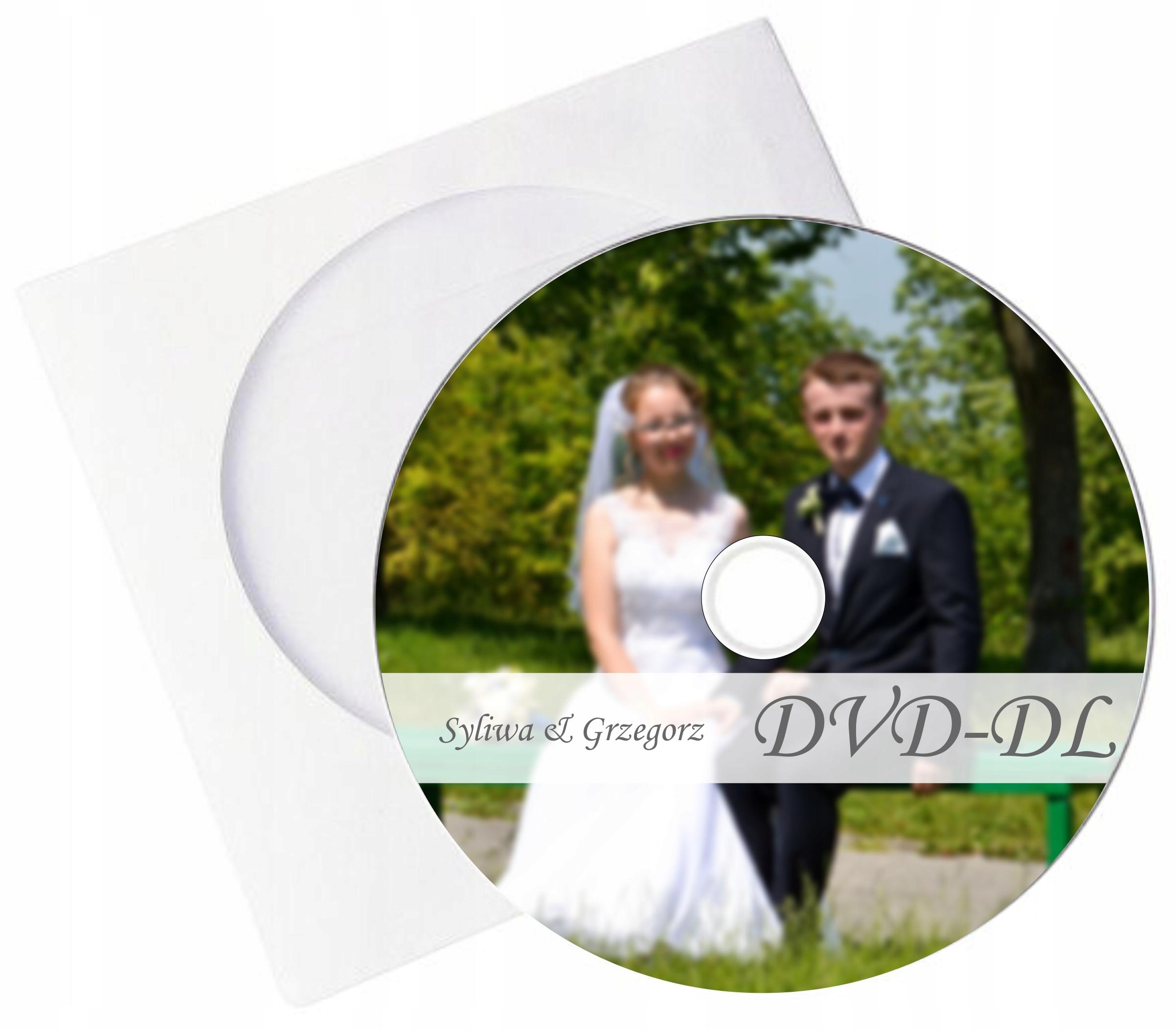 DVD-DL s tlačou, dvojitá vrstva DVD obálka